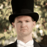 Brian Smith in a Top Hat and Tuxedo