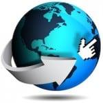 Arrow Around a Globe