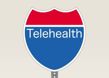 "Interstate Road Sign With ""Telehealth"" Written On It"