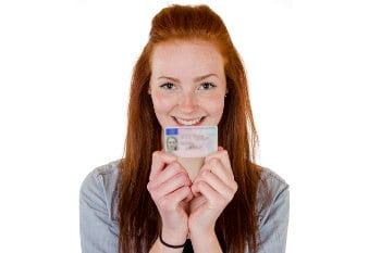 Young Woman With Driver's License