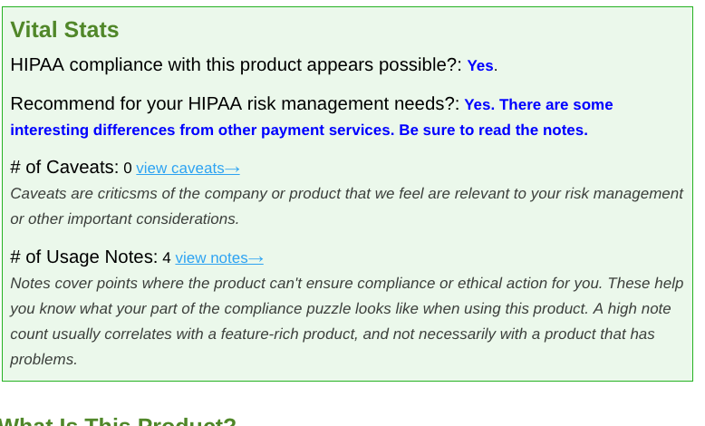 Screenshot of unnamed financial service with positive review