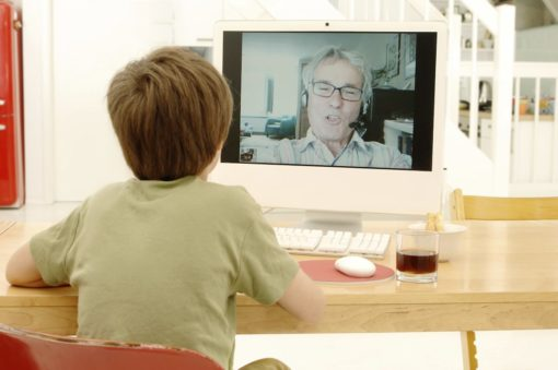 Online Therapy Between Kid and Therapist