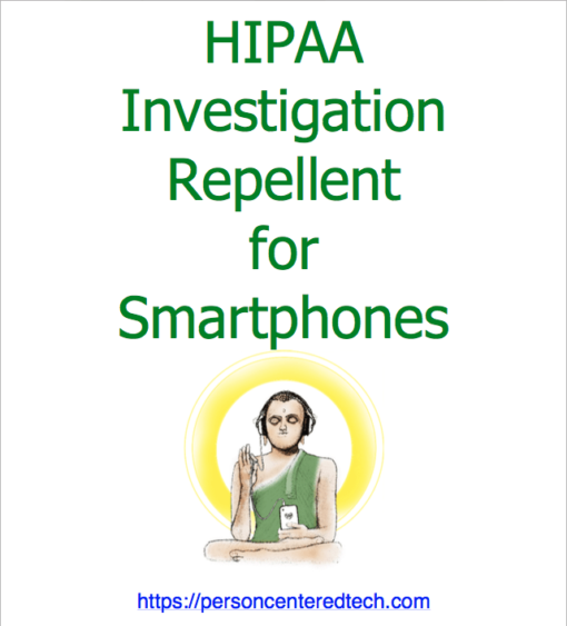 HIPAA Investigation Repellent for Smartphones cover page