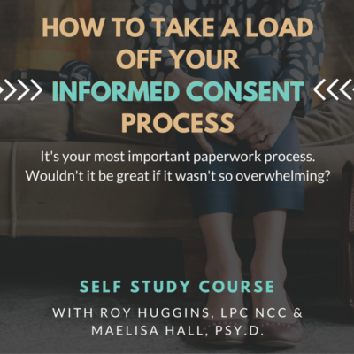 How to Take a Load Off Your Informed Consent Process