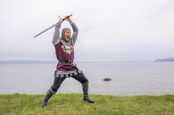 Threatening Swordsman