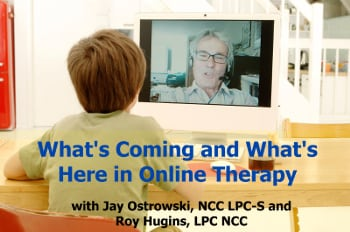 Kid on Video Therapy With Therapist