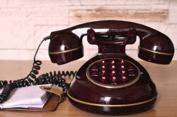 Vintage telephone, which doesn't do secure texting