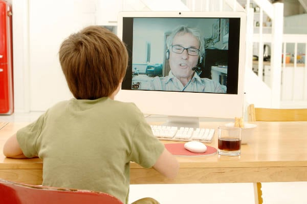 Kid on Video Call With Therapist