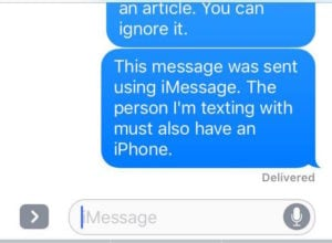 iMessage Screen