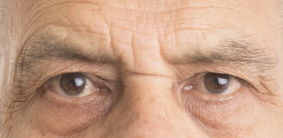 Close up of a man's eyes