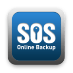 Ess Oh Ess Online Backup logo with a key in the middle of the letter Oh