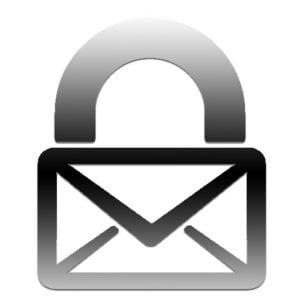 The logo of Luxsci which is an image of an envelope merged with the image of a padlock.