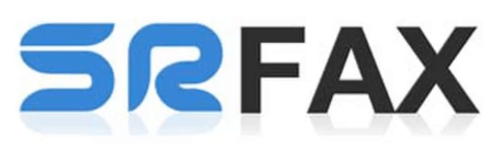 The logo for SR Fax