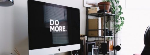 """Large monitor that says, """"Do More"""""""