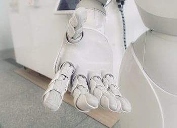 Robot hand reaching out