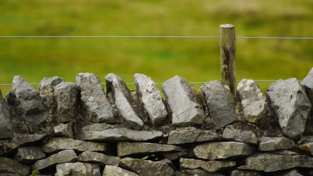 Low stone wall