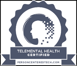 Telemental Health Certified Badge by Person Centered Tech