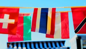 banner of international flags