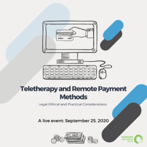 teletherapy and remote payment methods