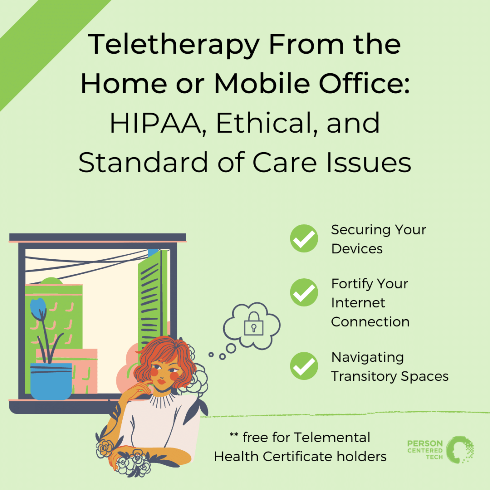 teletherapy from the home or mobile office