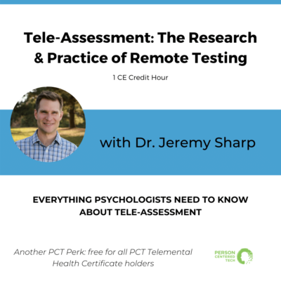 teleassessment research and practice of remote testing