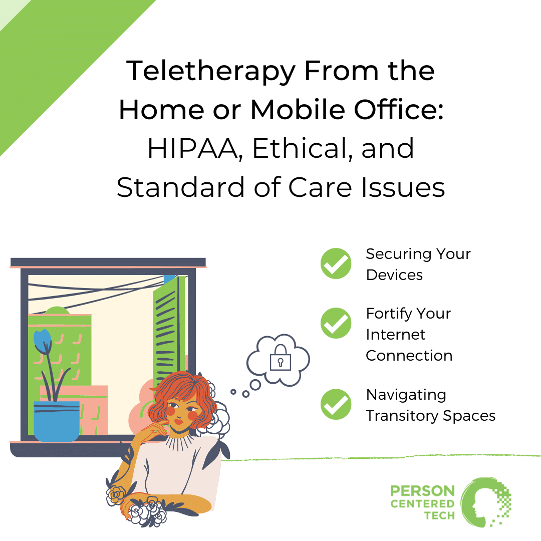 teletherapy from home or mobile office ce course