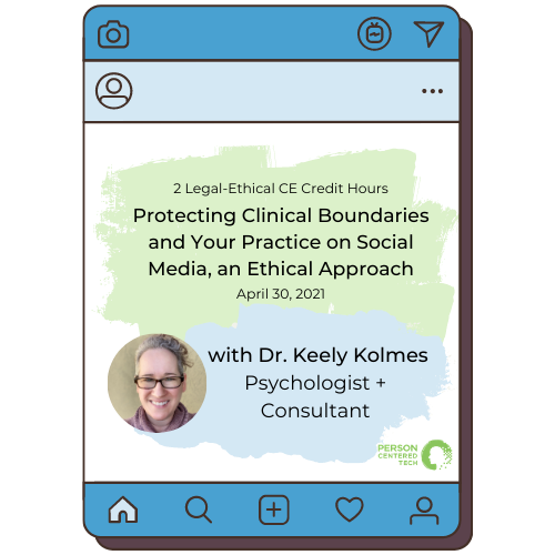 protecting clinical boundaries with Dr Keely Kolmes